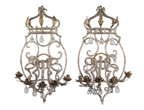A pair of wall-lights , LXIV Period , Italy
