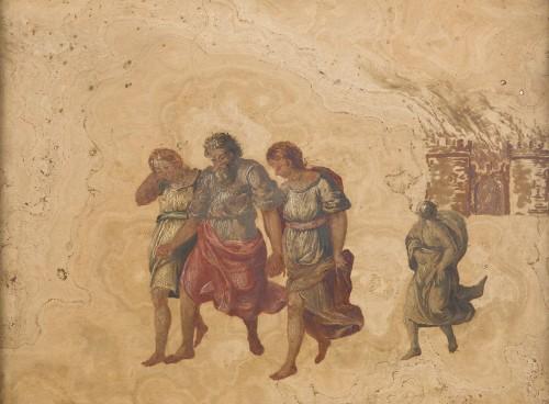 Paintings & Drawings  - Pair of marble paintings