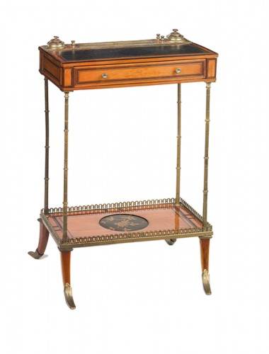 A gilt - bronze mounted sycamore small writing desk , circa 1830 -1840
