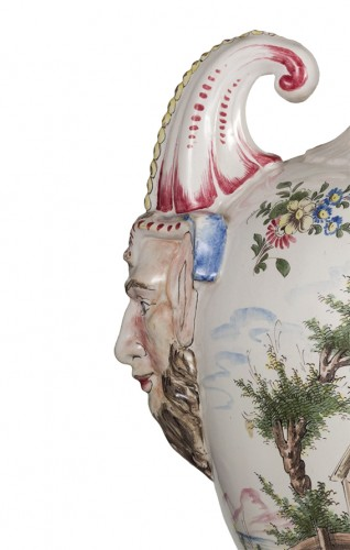 Porcelain & Faience  - Pair of 19th Century earthenware potiches