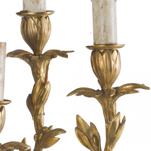 Antiquités - Pair of Napoleon III gilt bronze wall lights