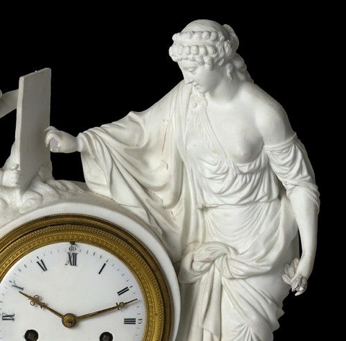 An Empire biscuit mantel clock, - Horology Style Empire