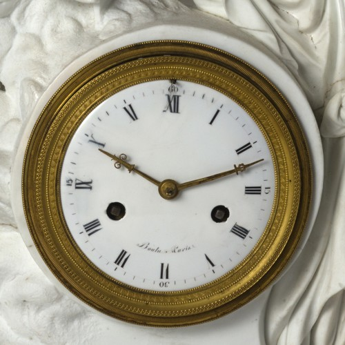 An Empire biscuit mantel clock, -