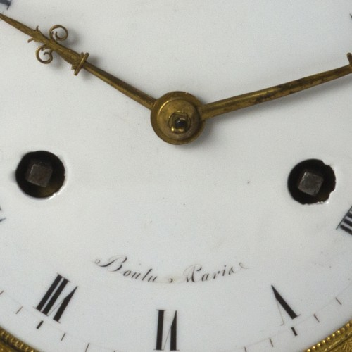 19th century - An Empire biscuit mantel clock,