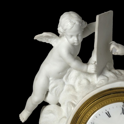 An Empire biscuit mantel clock, - Empire
