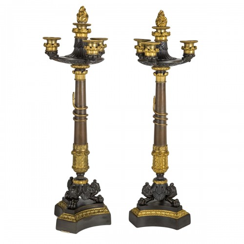 Pair of Restauration Period candelabra