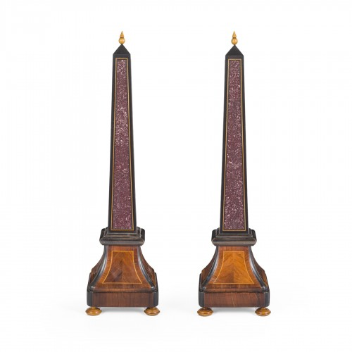 Pair of obelisks