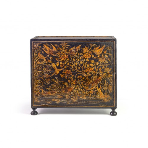 Cabinet in laquered and gilded wood, XVIII Century - Furniture Style French Regence