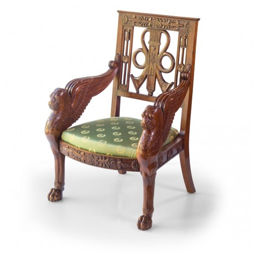 Seating  - Pair of mahogany armchairs end of the 20th Century