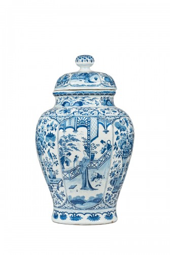 A Delft faïence covered vase