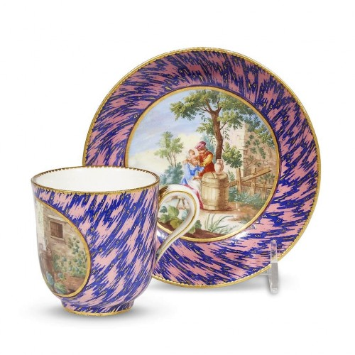 "A Sèvres cup ""Calabre"" and saucer"
