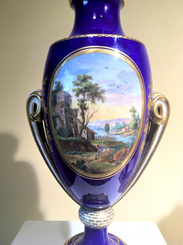 A Sèvres pair of ovoid vases - Porcelain & Faience Style