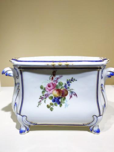 """Porcelain & Faience  - A Sèvres """"cuvette Courteille"""" flower vase"""