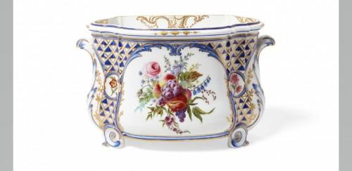 "A Sèvres ""cuvette Courteille"" flower vase -"