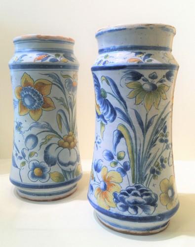 Two Muel faience albarelles - Porcelain & Faience Style