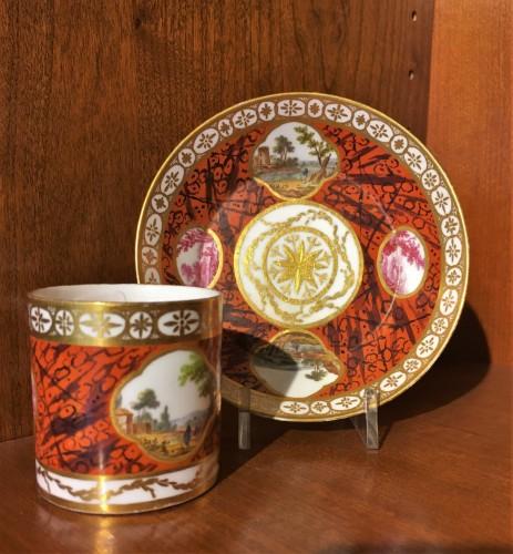 Porcelain & Faience  - A Sèvres cup and saucer