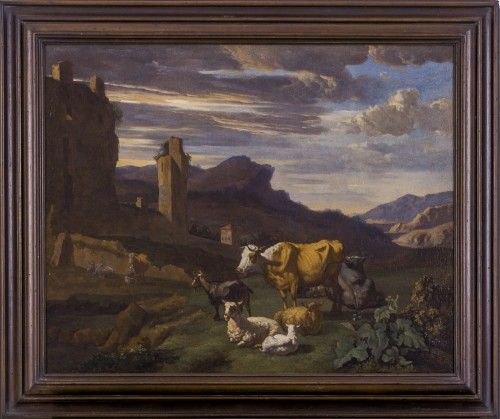 17th century - Willem Romeyn (c.1624–c.1694) - An Italianate Landscape
