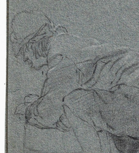Attributed to Cornelis Dusart (1660–1704) - Study of Man - Paintings & Drawings Style