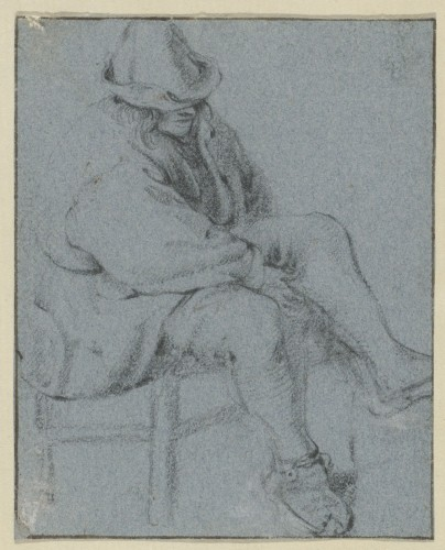 Attributed to Cornelis Dusart (1660–1704) - Study of Man -
