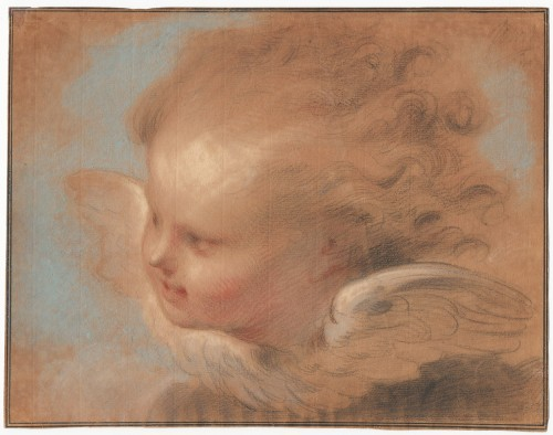 Jacob de Wit (1695–1754) - A Head of a Putto
