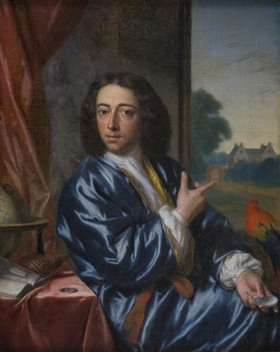 Philip van Dijk (1683–1753) -Portrait of a Collector of Natural Curiosities - Paintings & Drawings Style