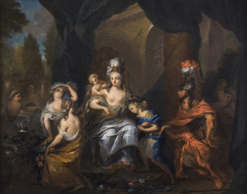 Ottomar Elliger II (1666-1732) - Aeneas Presenting Ascanius to Dido - Paintings & Drawings Style