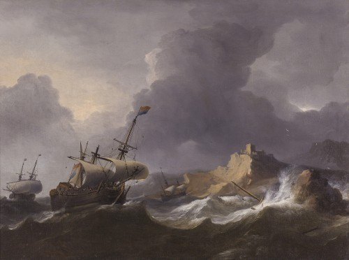 Aernout Smit (1640/41–1710) - Ships in Distress