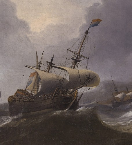 Aernout Smit (1640/41–1710) - Ships in Distress - Paintings & Drawings Style