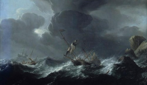 - Aernout Smit (1640/41–1710) - Ships in Distress