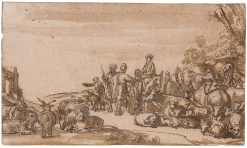 Attributed to Gerrit Claesz. Bleker (1592/93–1656) - Abraham and Lot