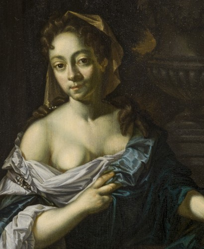 Paintings & Drawings  - L. Beugholt (The Netherlands, early 18th century) - Portrait of a Lady