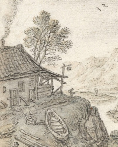 Herman Saftleven (1609–1685) - A Rhine Fantasy near Boppard - Paintings & Drawings Style