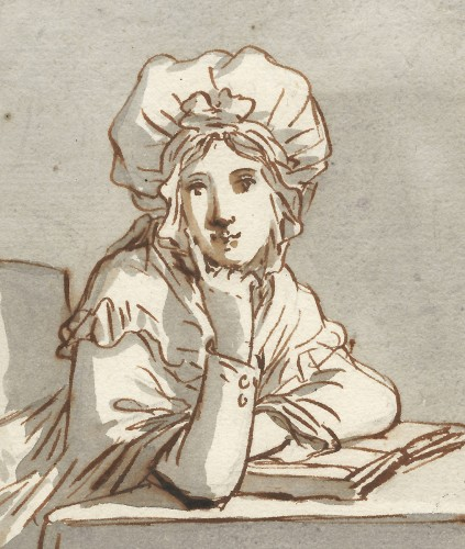 Anthonie Andriessen (1746 – 1813) - A Young Woman - Paintings & Drawings Style