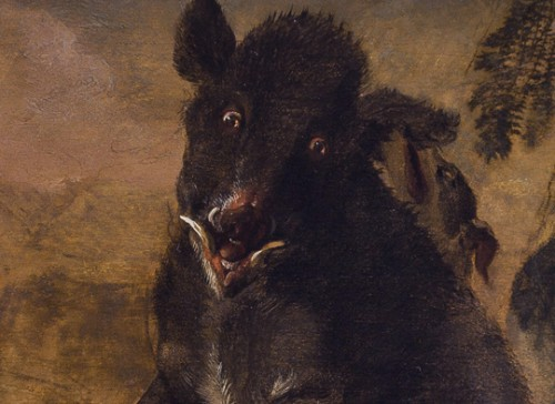 Abraham Hondius (c.1631–1691) - Dogs Attacking a Boar -