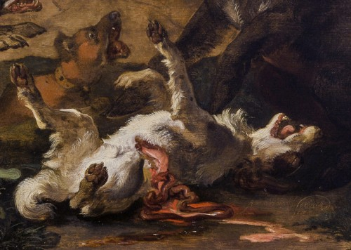 17th century - Abraham Hondius (c.1631–1691) - Dogs Attacking a Boar
