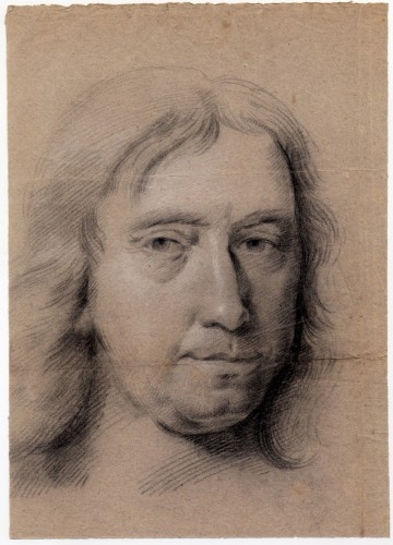 Attr to Sir Godfrey Kneller (1646–1723) Old Master Drawing Portrait Study