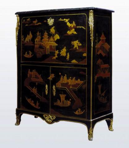 Le mobilier en laque de chine au xviiie si cle article for Meuble chinois ancien prix