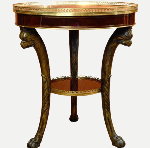 Le gu ridon empire article anticstore for Lions meuble circulaire