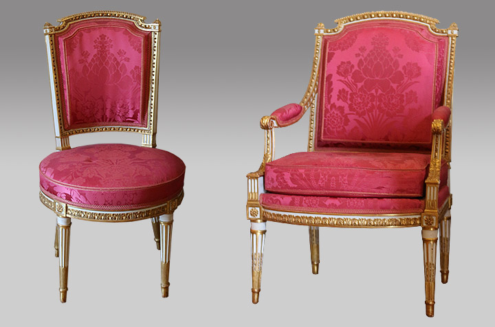 chaise marie antoinette excellent with chaise marie antoinette cabinet de chaise de with. Black Bedroom Furniture Sets. Home Design Ideas